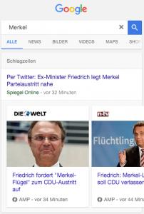 AMP-Seiten im Google News-Karussell