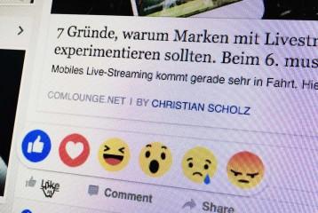 Werden die Facebook Reactions genutzt? Eine erste Studie sagt Nein