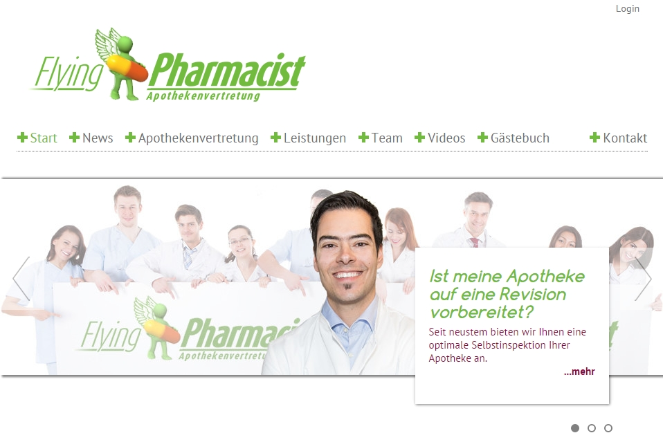 Intranet-Anwendung für Apothekendienstleister flying pharmacist