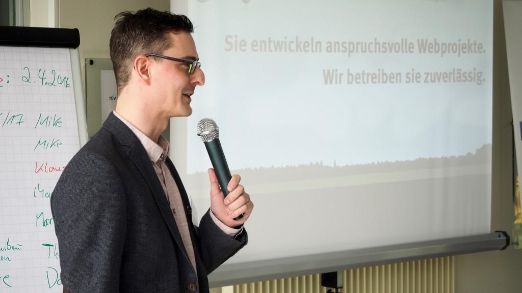 Christian Zagrodnick beim PythonCamp 2016
