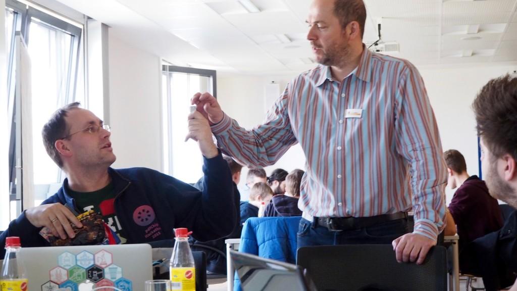 Geheime Datenübergabe beim Open Data Hackday Niederrhein