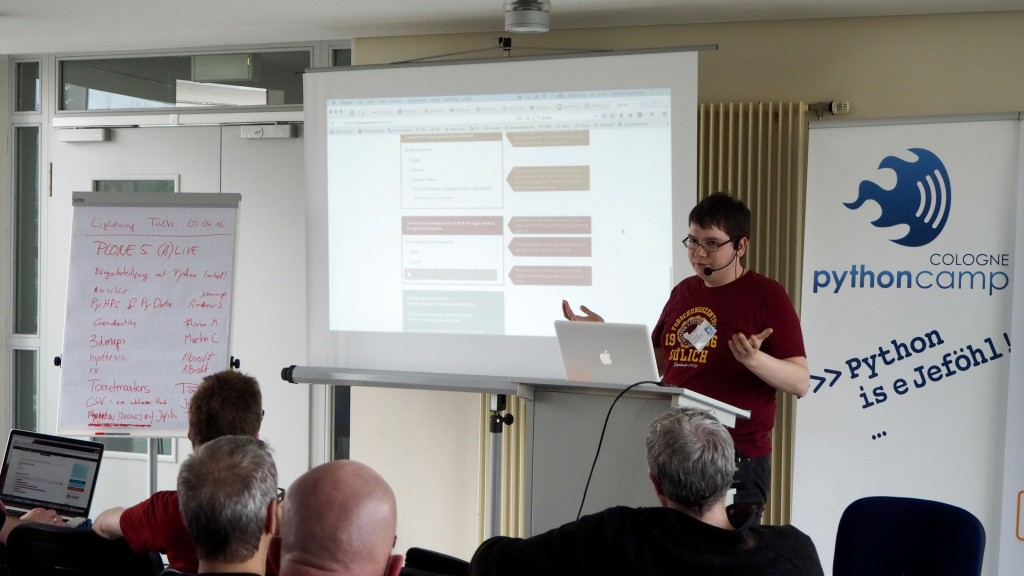 Lightning Talks beim PythonCamp 2016 in Köln