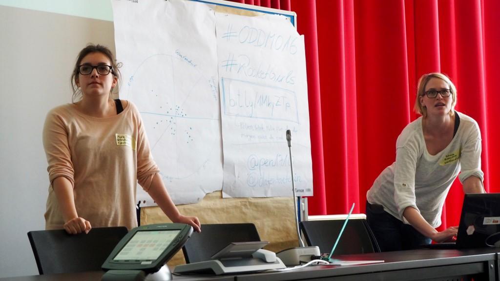 Die Rocket Girls beim Open Data Hackday Niederrhein
