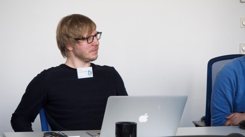 Timo Stollenwerk bei der Testing-Session beim PythonCamp