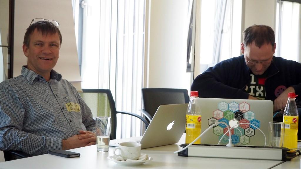 Zufriedene Gesichter beim Open Data Hackday Niederrhein