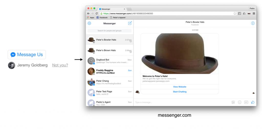 Facebook Messenger Platform - das Message-Us Plugin